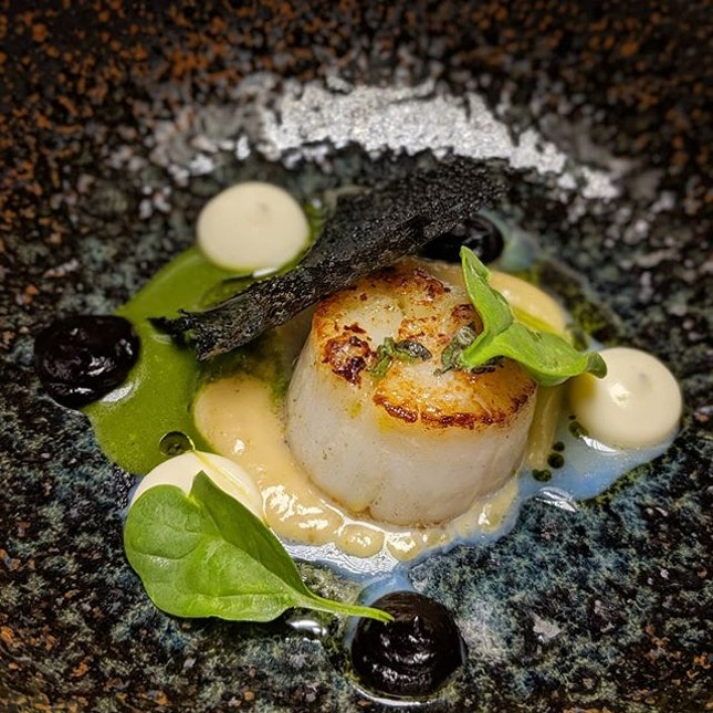 Just thinking about this Hokkaido Scallop with Garlic and Sage from the degustation experience that I had seventy-six ards ago at Restaurant JAG, the French fine dining restaurant along Duxton Road which just received a Michelin star this year (@restaurantjagsg).