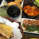 Fusion Dinner at Bar Bar Black Sheep  #western #japanese #indian #sgfood #burpple #burpplesg #hollandvillage #naan #wasabiprawn #soba #tempura #butterchicken #barsg