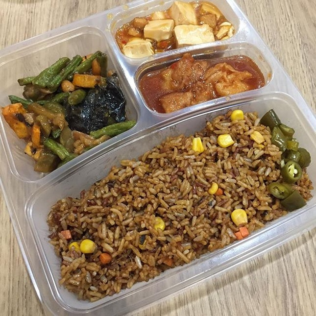 Vegetarian Lunch box from Lingzhi $4.50.
