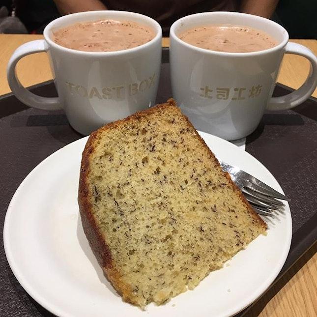 Mid day break #milo #bananacake #toastbox #toastboxsg #orchard #shawhouse #lido #burpplesg #burpple