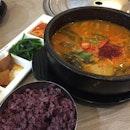 Korean Spicy Seafood Tofu soup  #bornga #suntec #cityhall #promenade #korean #soup #stew #burpple #burpplesg