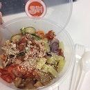 Going Fusion today #korean #mexican #salad #kimchi #cleaneating #healthyeating #greens #eatinggreen #rafflesplace #marinabaylinkmall #burpple #burpplesg