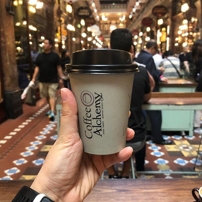 Coffee at the Strand #soycappuccino #sydney #thestrand #coffee #burpple