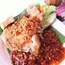 Best Ayam Penyet nasi I ever had..