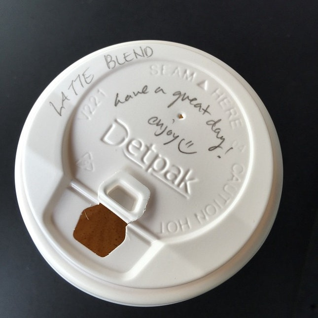 A nice touch to a good cup of coffee.