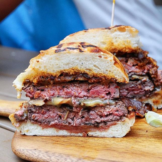 A monster of a burger