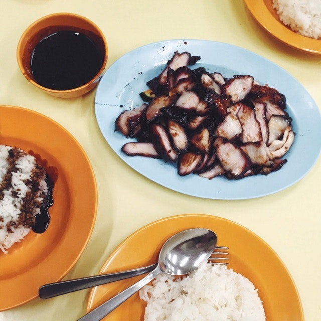 The most delicious char siew rice.