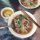 Authentic pho in delicious broth.