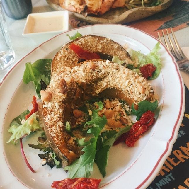 Macadamia-Crusted Pumpkin Salad