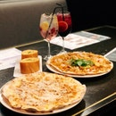 Garlic Snowing Pizza ($25++ U.P), Mad Tom Yum Pizza ($23++ U.P), Starter Set ($15++)
