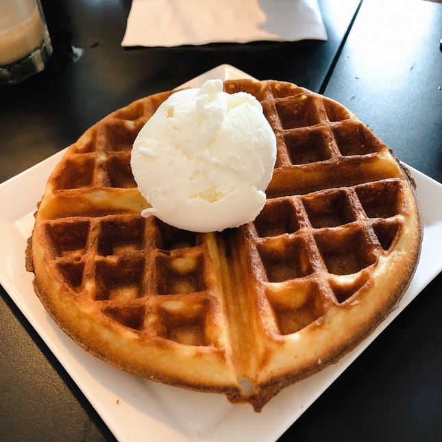 Waffles With Ice Cream (U.P. $10.90-11.90; On Burpplebeyond)