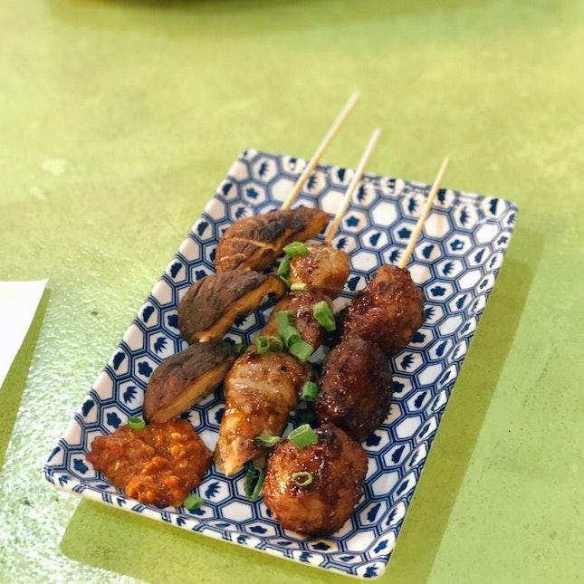 Chicken Thigh ($2), Duck Meatball ($2.2), Mushroom ($1.50)