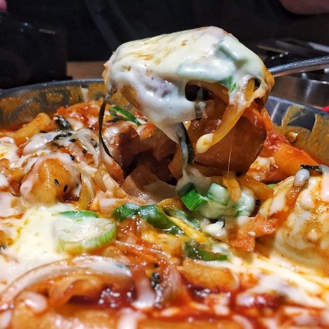 Tteokbokki [$18, +$3 to add cheese]