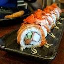 Aburi Salmon Maki Roll ($9.90)