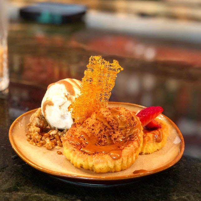 Grilled Almond Cake ($14)