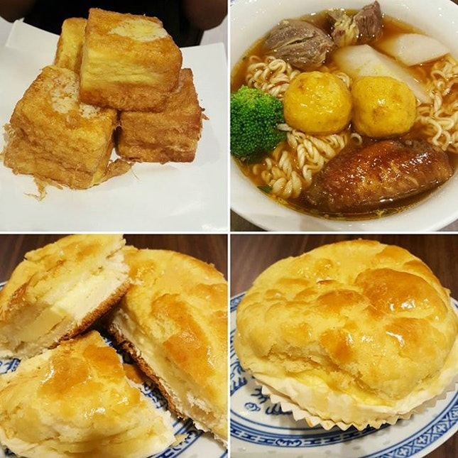 French Toast, Rickshaw Noodles & Butter Polo Bun