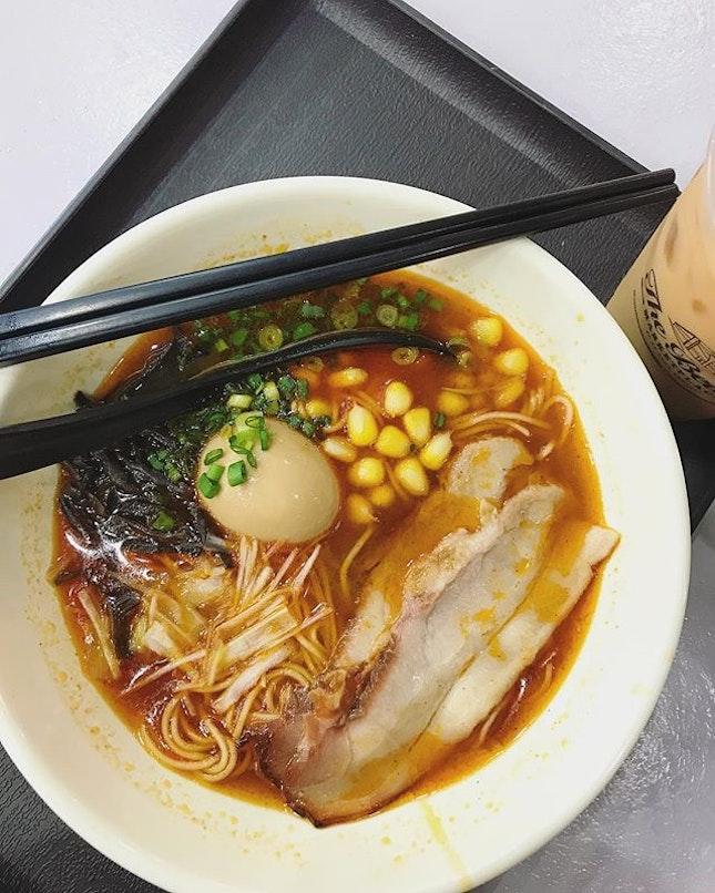 Spicy Shoyu Ramen ($8) .