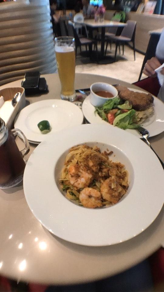 "Hae Bi Hiam Pasta & ""Har Cheong"" Chicken Cutlet"