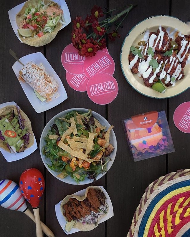 We went loco over amazing Mexican spread at foodpanda's party at @luchaloco yesterday.