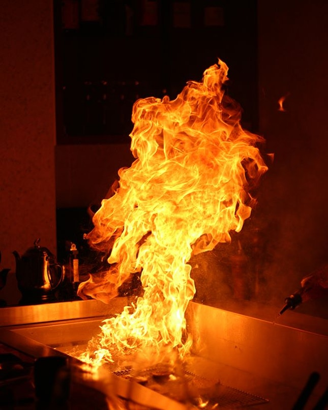 When your food was cooked right in front of you and this happened 🔥🔥🔥.