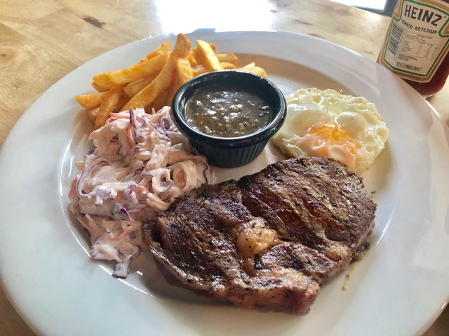 Ribeye Steak & Egg ($22.80)