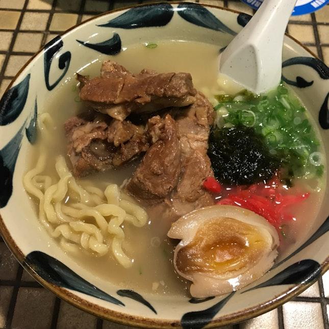 Pork noodle with simmered pork belly [$14.80]