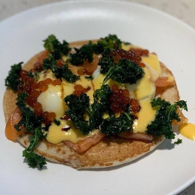 Take me back to Devon Cafe in Sydney - Organic Eggs Blinis [$22]