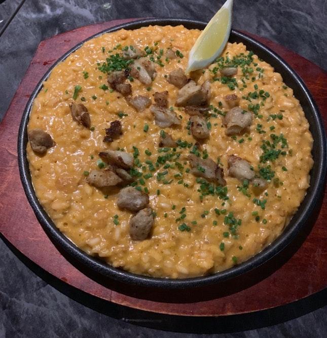 Sophia's Risotto | crabmeat, mackerel, chili, coconut