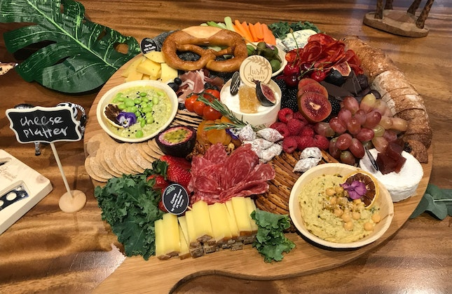CHEESE & CHARCUTERIE SIGNATURE BOARDS From Lush Platters - $588 (for 20 Pax)
