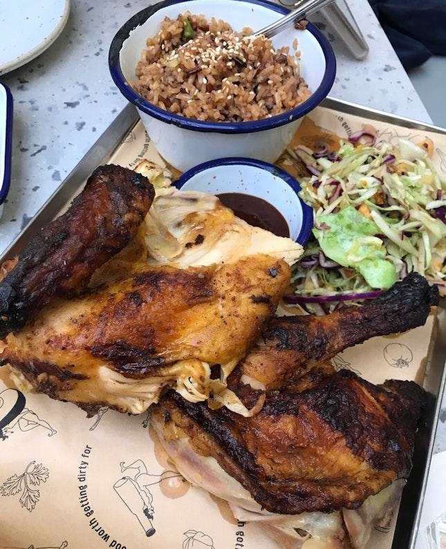 Lunch Promo - Half Spit Roast Chicken [$23]