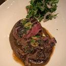 Beef tenderloin, burnt onion, bone marrow [$28/100g]