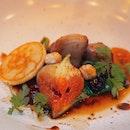 Pan-Fried Foie Gras, Warm Blinis and Morello Cherries [$32]