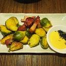 Crispy Brussel sprouts | Mirin glazed bacon | karashi [$15/28]