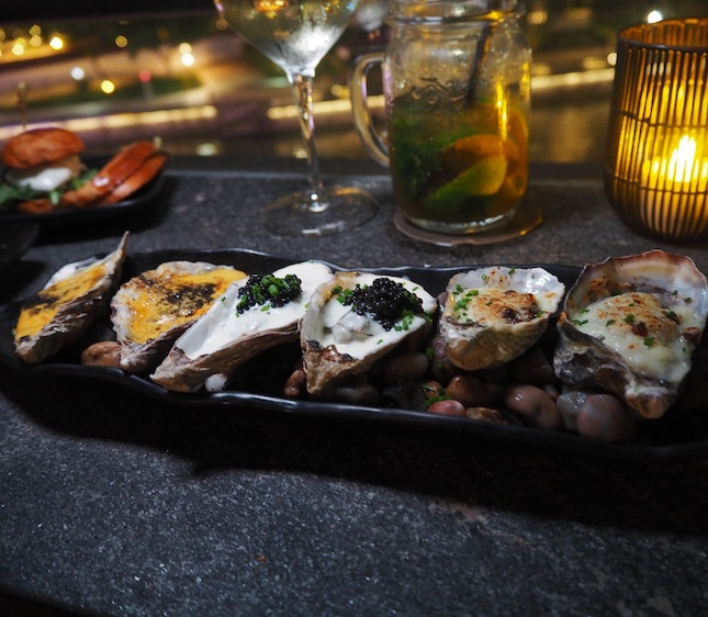 Hot Oysters (served in 6s) [$30]