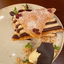 Frenchie - Mille feuille Caramelised puff pastry, hazelnut, caramel [$18]