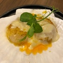 Hotate cauliflower - hokkaido scallop with espuma of cauliflower & curry [$20.80]