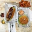 Unagi bun ($8) and fried chicken burger ($5).