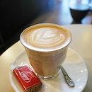 Latte from highlander coffee.