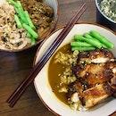 Oven-roasted Chicken Leg, Pork Shoulder Shabu and Beef Knuckle Shabu