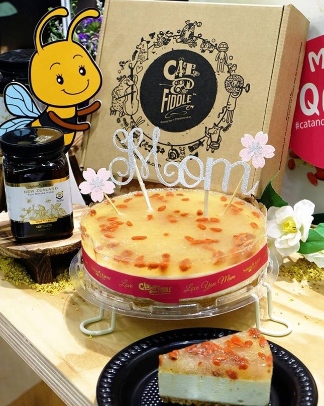 Reward your busy bee of a mother with Cat & the Fiddle's latest creation - Queen Bee Cheesecake.