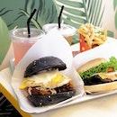 Bomchika Wow Wow, B Burger & Truffle Fries 🍔+🍟 .