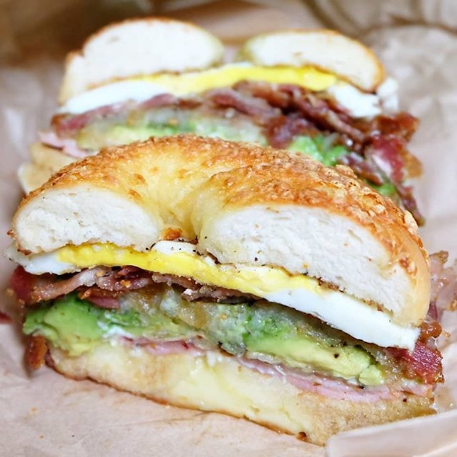 Breakfast favourites sandwiched between awesome TMBH bagels!
