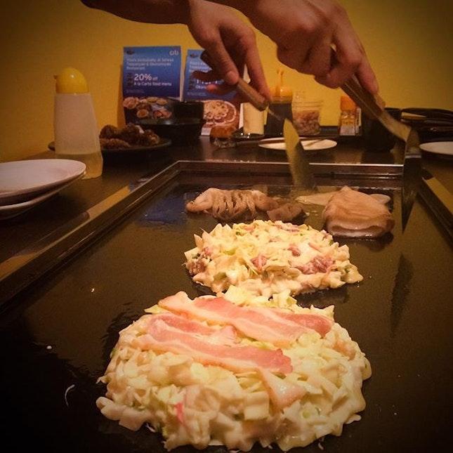 Okonomiyaki!! (S$10 - S$16) 😍😍😍