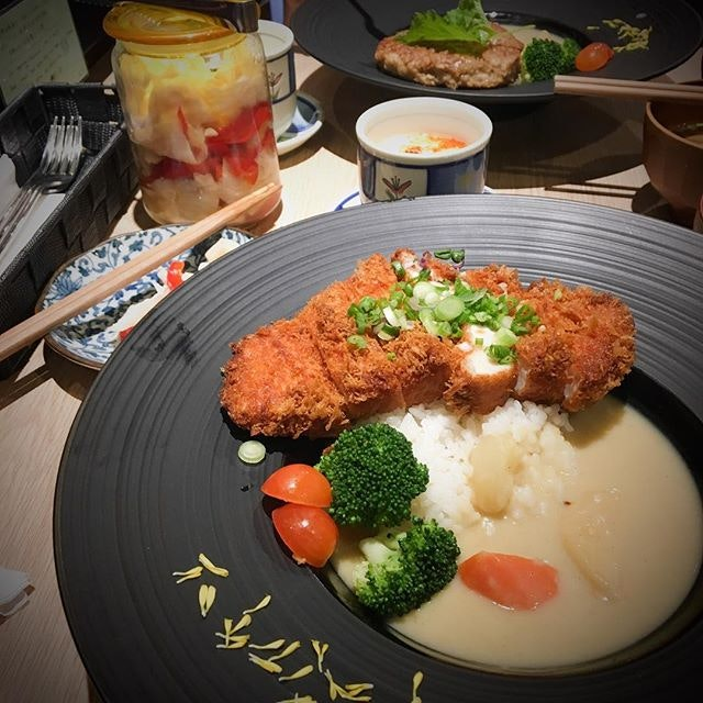 White Curry Chicken Katsu Don