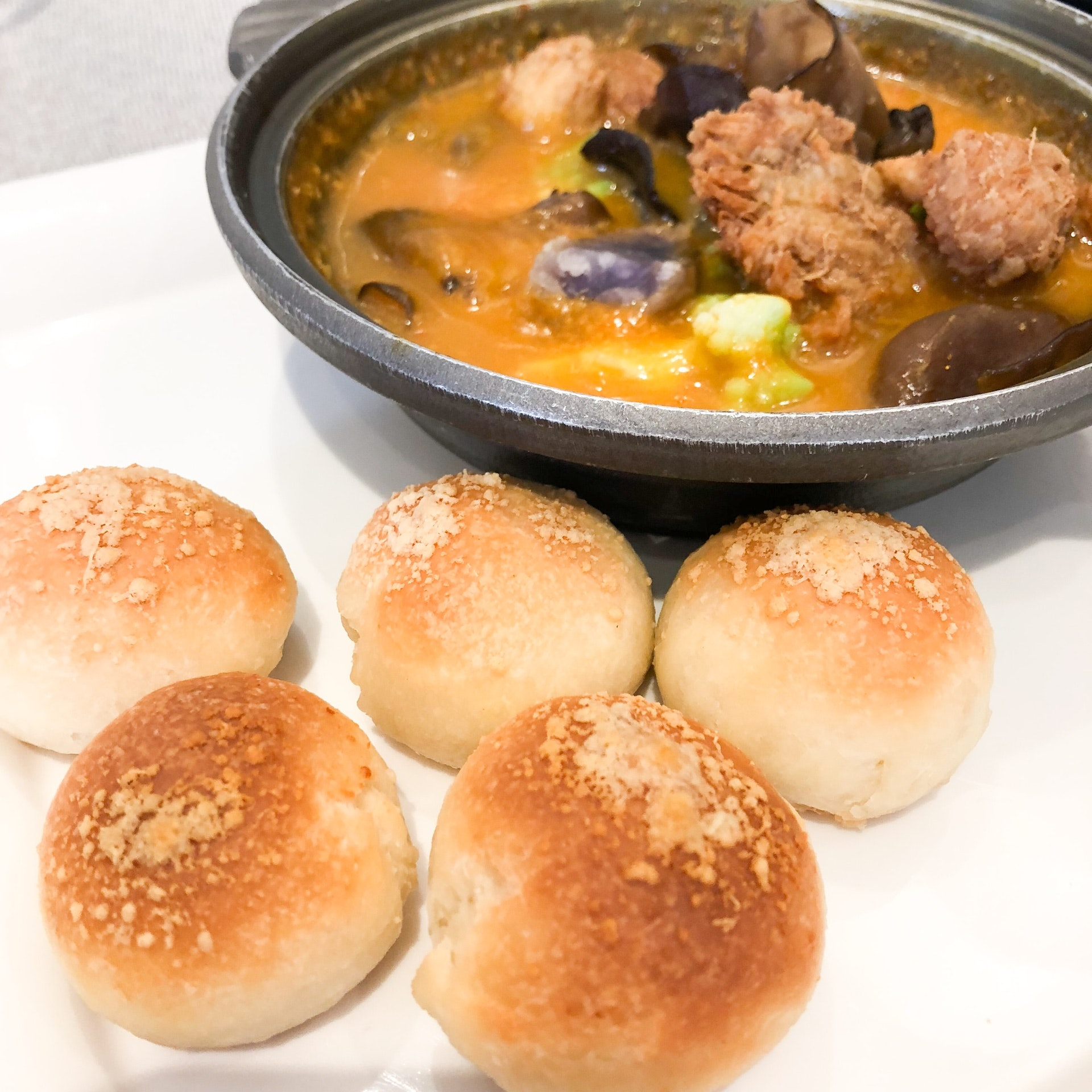 NEW on the menu: Asia Curry with Dough Balls