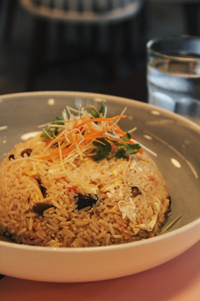 Wild Mushroom Fried Rice ($18)