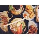 Beast mode 🍜 #crazy #beastmode #superhungry #fish #chicken #gyoza #ramen #awesomenessbyawesome1