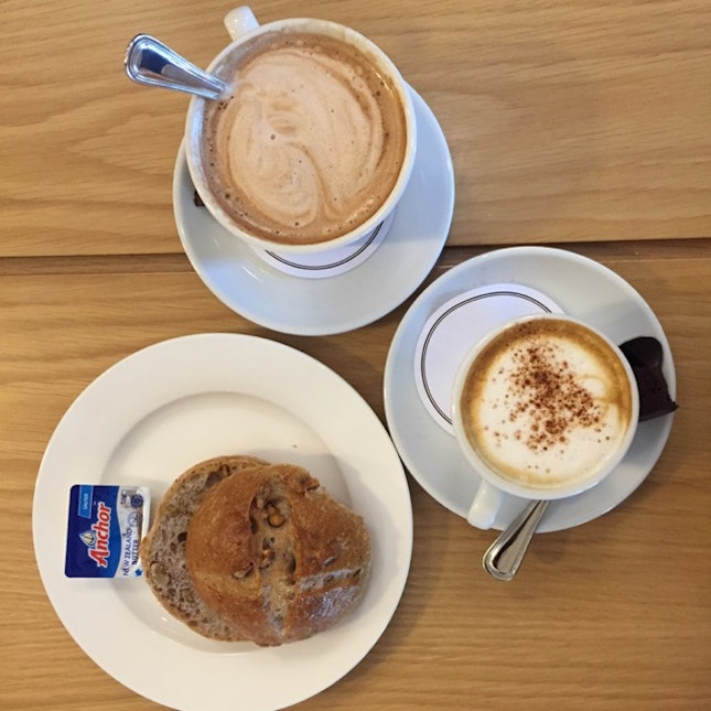 Delicous Breads And Coffee