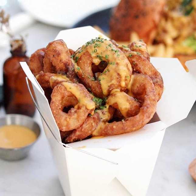 Salted Egg Onion Rings