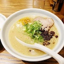 Randomly went into this shop in Osaka for a bowl of ramen and it was delicious.